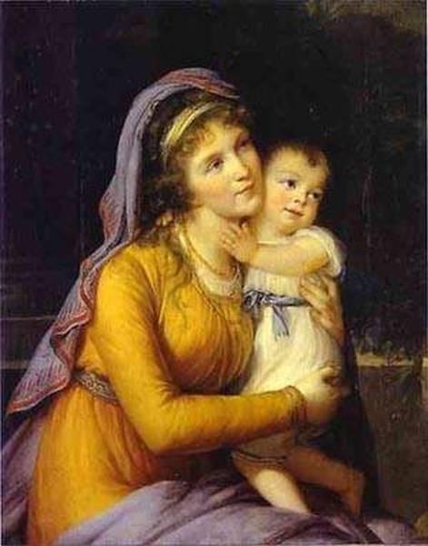 Baronessanna sergeevna stroganova and her son sergey 1793 xx the hermitage st petersburg russia